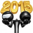 Stock Photo: Happy new year golden 2015
