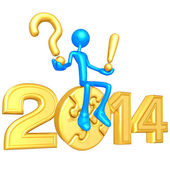 New Year 2014 Gold puzzle — Stock Photo