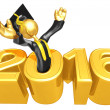 Happy new year golden study 2016 — Stock Photo #41692065