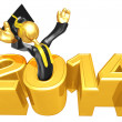 Stockfoto: New Year 2014 Gold study