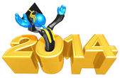 New Year 2014 Gold study — Foto de Stock