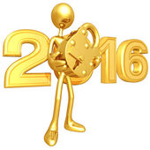 Happy new year golden lock 2016 — Stock Photo