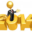 New Year 2014 Gold business — Stock Photo