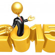 Stock Photo: Happy new year golden business 2015