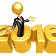 Happy new year golden business 2016 — Stock Photo #41801059