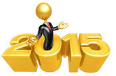 Happy new year golden business 2015 — Photo