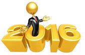 Happy new year golden business 2016 — Foto Stock