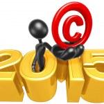 Holding Copyright,  2015  Year — Stock Photo #42130539