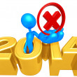 Rejected Symbol, 2014 Year — Stock Photo
