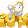 Stop Watch, 2014 Year — Stock Photo