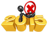 Rejected Symbol, 2015  Year — Stock Photo