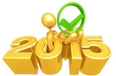 Approval Symbol, 2015  Year — Stock Photo