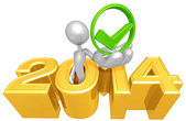 Approval Symbol, 2014  Year — Stock Photo