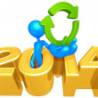 Recycle Symbol, 2014 Year — Stock Photo #42260809