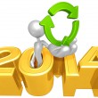 Recycle Symbol, 2014 Year — Stock Photo