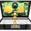 Yen and Graph On Laptop — Stock Photo #42356421