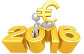 Euro Symbol, 2016 — Stock Photo