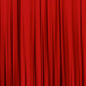 Red curtain, used as backgrounds and textures — Stock Photo