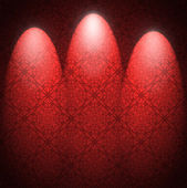 Red wallpaper with three spots. — Stock Photo