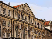 The old building in an urban environment illustration — Stock Photo