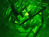 Uncut emeralds — Stock Photo