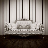 Beautiful old sofa interior — Stockfoto