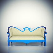 Luxury vintage blue armchair — Stock Photo