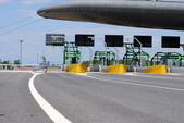 Highway toll gate on italian road — Stock Photo