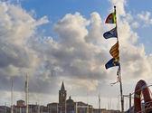 Flaggor i alghero — Stockfoto