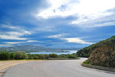 Gallura winding road — Stock Photo