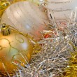 Stock Photo: Golden Christmas ball