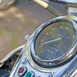 Stock Photo: Chromed speedometer