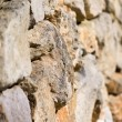 Selective focus of a dry-stone wall — Stock Photo