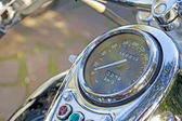 Chromed speedometer — Stock Photo