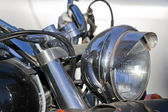Chromed headlight — Stock Photo