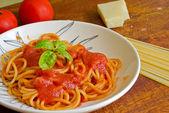 Closeup of a spaghetti plate — Stock Photo