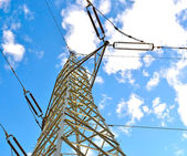 Pylon on a cloudy day — Stock Photo