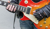 Luvas de guitarra — Foto Stock