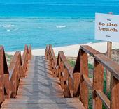To the white beach — Stock Photo