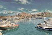 Vintage Castelsardo pier — Stockfoto