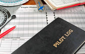 Log book and tools — Stock Photo