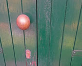 Doorknob on wood — Stock Photo