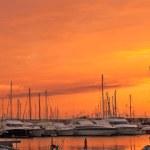 Puerto de Alghero al atardecer — Foto de Stock