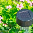 Solar garden light — Stock Photo