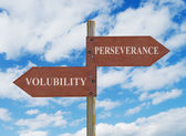 PERSEVERANCE VS VOLUBILITY — Stock Photo