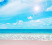 Pink paradise beach — Stock Photo