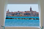 Alghero and window — Stock Photo