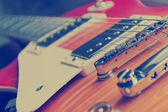 Cuerdas de guitarra en tono vintage — Foto de Stock