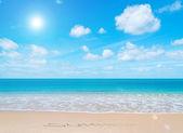 лето в рай — Стоковое фото