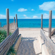 Beach entrance - Stock Photo